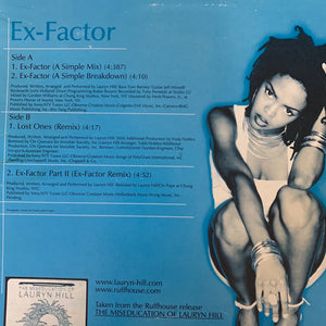 "Lauryn Hill ""Ex-Factor"" 4 Version 12inch Vinyl"