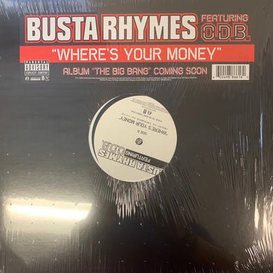 "Busts Rhymes ""Where's Your Money"" Feat ODB 4 Track 12inch Vinyl"
