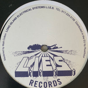 "Torn Hawk ""Bad Deadlift"" on Long Island Electrical System's L.I.E.S. Records 4 Track 12inch"