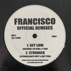 "Kanye West Feat Daft Punk ""Stronger"" Francisco Remix plus 3 other tracks 4 Track 12inch Vinyl"