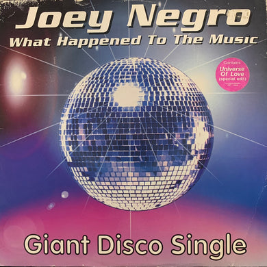 "Joey Negro ""What The Happened To The Music"" / ""Universe of Love"" 4 Track 12inch Vinyl"