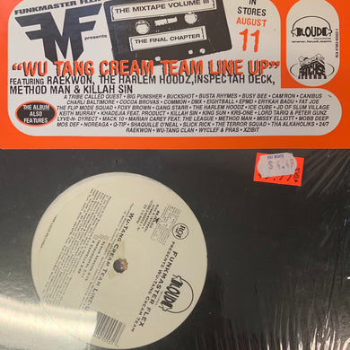 Funkmaster Flex Presents Wu Tang Cream Team line up, 5 Track 12inch Vinyl
