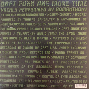 "Daft Punk ""One More Time"" 12inch Vinyl"