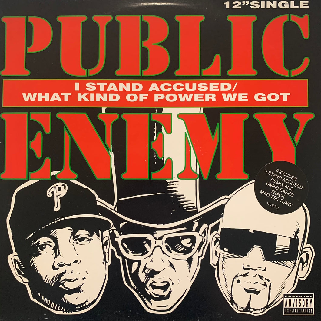 "Public Enemy ""I Stand Accused"" 4 Track 12inch Vinyl"