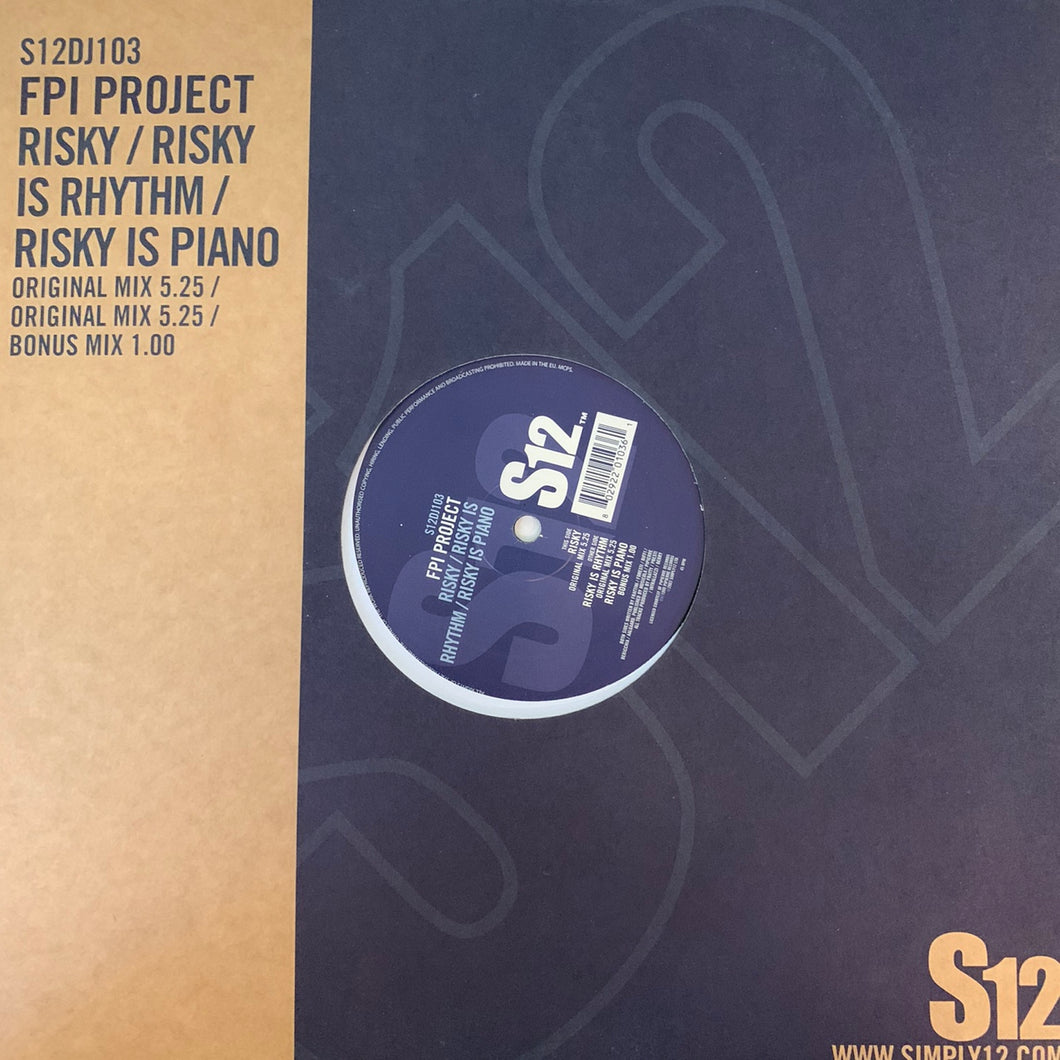 "FPI Project ""Risky"" / ""Risky is Rhythm"" / ""Risky is Piano"" 3 Track 12inch Vinyl"