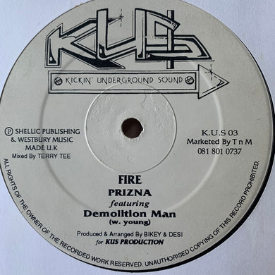 "Prizna ""Fire"" Feat Demolition Man / ""Natral Hi"" Feat Annette Brown 2 Track 12inch Vinyl"