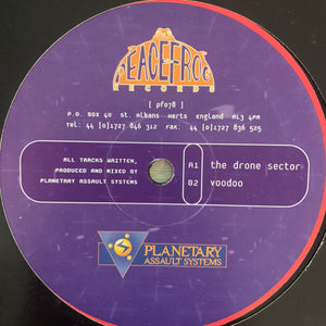 "Planetary Assault Systems ""The Drone Sector"" 2 Track 12inch Vinyl"