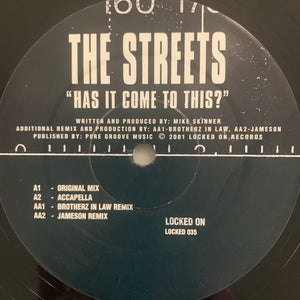 "The Street ""Has it Come To This"" 4 Version 12inch Vinyl"