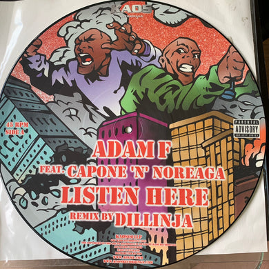 Adam F 2 x 12inch Limited Edition Picture Disc 4 Tracks Feat Capone n Noreaga, Pharoahe Monch, M.O.P. and Lil Mo