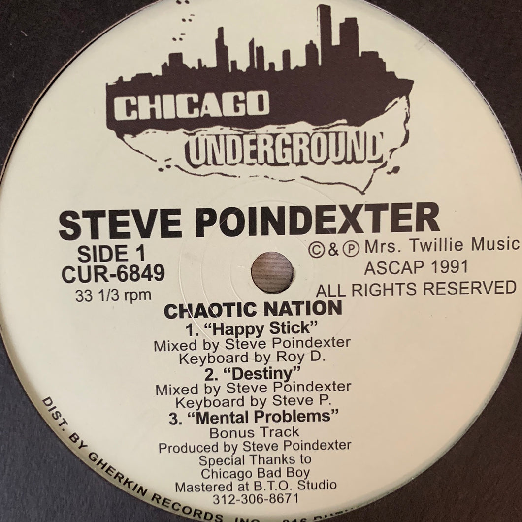 "Steve Poindexter 'Chaotic Nation' Ep ""Happy Stick"" 6 Track 12inch Vinyl"