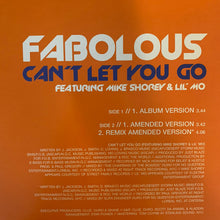 "Load image into Gallery viewer, Fabolous ""Can't Let You Go"" 3 Version 12inch Vinyl"