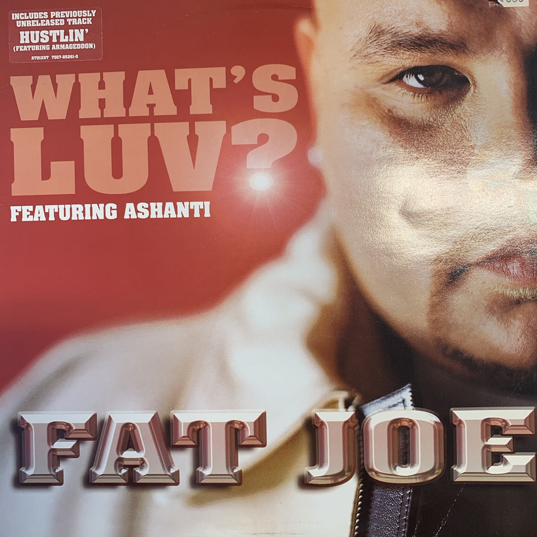 "Fat Joe Feat Ashanti ""Whats Luv?"" / ""Hustlin"" 3 Track 12inch Vinyl"