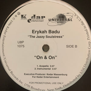 "Erykah Badu ""On & On"" 4 Version 12inch Vinyl"