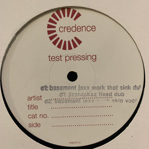 "Dj Sneak Feat Bear Who ""Fix My Sink"" 2 X 12inch Test Pressing 5 Track 12inch Vinyl"