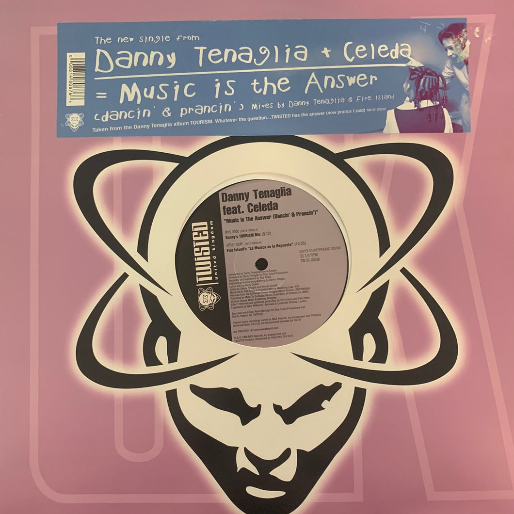 "Danny Tenaglia Feat Celeda ""Music Is The Answer"" 2 Track 12inch Vinyl"