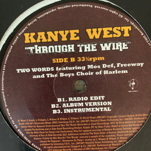 "Kanye West ""Through The Wire"" / ""Two Words"" 6 Version 12inch Vinyl"
