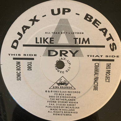 Like A Tim 'Dry' Ep 4 Track 12inch Vinyl
