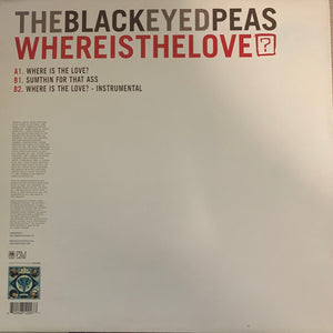 "Black Eyed Peas ""Where Is The Love"" 3 Track 12inch Vinyl"