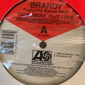 "Brandy Feat Kanye West ""Talk About Our Love"" 4 Version 12inch Vinyl"