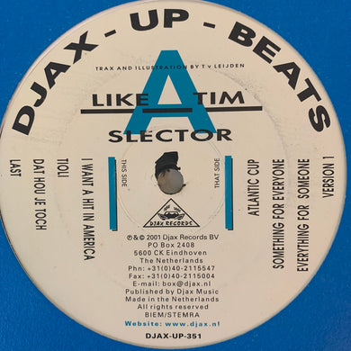 Like A Tim 'Slector' Ep 8 Track 12inch Vinyl