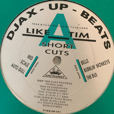 Like A Tim 'Short Cuts' Ep 6 Track 12inch Vinyl