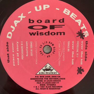"Board Of Wisdom ""Over The Hill"" Ep 4 Track 12inch Vinyl"