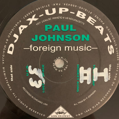 Paul Johnson Foreign Music Ep 4 Track 12inch Vinyl