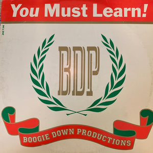 "Boogie Down Productions BDP ""You Must Learn"" 3 Track 12inch Vinyl"