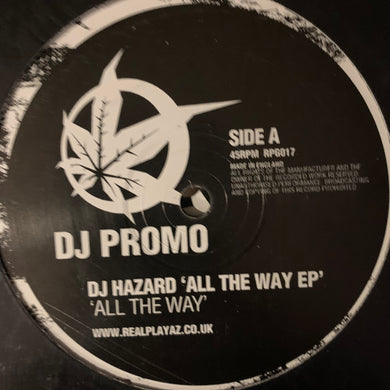 DJ Hazard 'All The Way E.P.' 2 x 12inch Double Pack 8 Track 12inch Vinyl