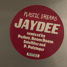 "Load image into Gallery viewer, Jaydee ""Plastic Dreams"" remixed by Boom Boom Satellites, Peshay and P. Pulsinger 3 Track 12inch Vinyl"