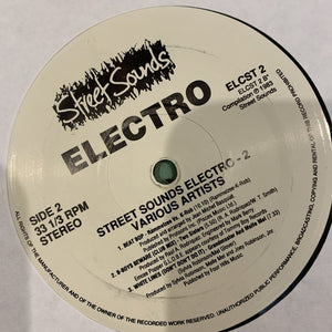 Electro 2 Street Sounds Re issue 7 Track LP Hip Hop Electro