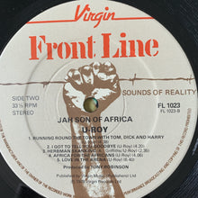 "Load image into Gallery viewer, U-ROY ""Jah Son Of Africa"" 9 Track Vinyl Album"