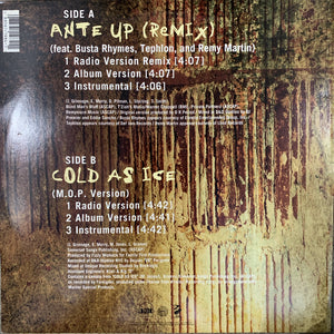 "M.O.P. ""Ante Up"" Remix Feat Busta Rhymes / ""Cold As Ice"""