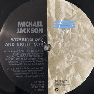 "Michael Jackson ""Beat it"" / ""Working Day and Night"""