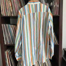 Load image into Gallery viewer, Paul & Shark 100% Linen Striped Shirt Size 42 Will Fit Large to XL