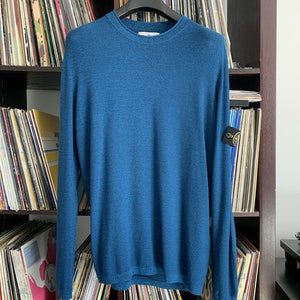 Stone Island Blue Knit Sweater