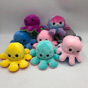Reversible Octopus Plushies - 16cm