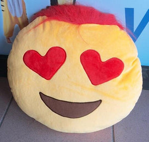 Emoji Heart Eyes Pillow Pillow