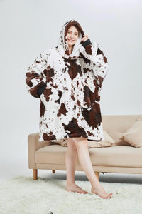 My Snuggy - Seamless Cow Print Oversized Blanket Hoodie