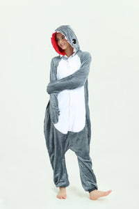 Onesie World Unisex Animal Pyjamas - Grey Shark Adult Onesie (Cosplay / Nightwear / Halloween / Carnival / Novelty Costume)