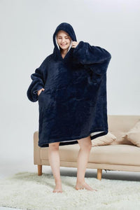 My Snuggy - Dark Blue  Oversized Blanket Hoodie