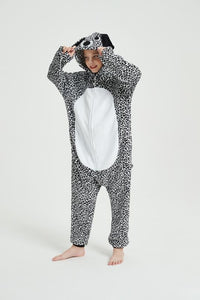 Onesie World Unisex Animal Pyjamas - Dalmatian Dog Adult Onesie (Cosplay / Nightwear / Halloween / Carnival / Novelty Costume)