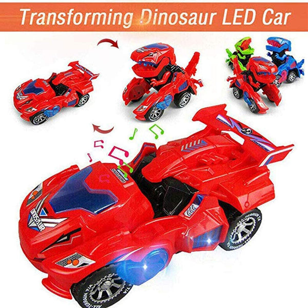 Transforming Dinosaur Car with LED Light and Sound