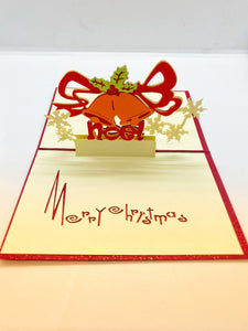 Pop-up Card _ Merry Christmas Orange Bell Arch