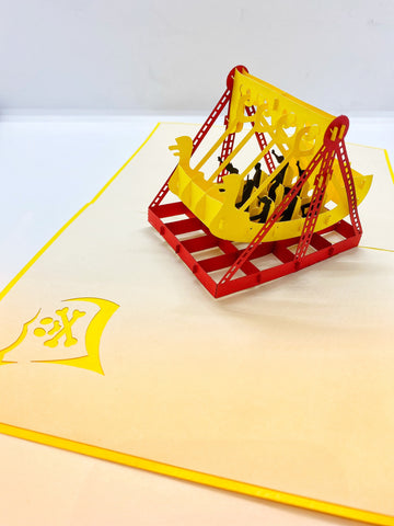 Pop-up Card _ Viking Ship Rides