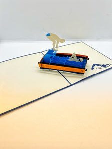 Pop-up Card _ Swimming