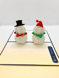 Pop-up Card _ More Snowmen