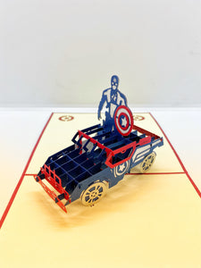 Pop-up Card _ Captain America