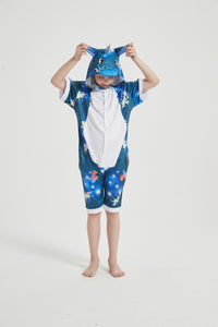 Onesie World Unisex Animal Summer Pyjamas - Dark Galaxy Unicorn Kids Summer Onesie (Book-week / Nightwear / Halloween / Pyjama Days)