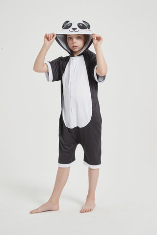 Onesie World Unisex Animal Summer Pyjamas - Panda Kids Summer Onesie (Book-week / Nightwear / Halloween / Pyjama Days)